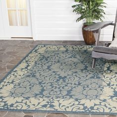 Safavieh's Courtyard Collection creates a dynamic presence with its fashionable and transitional designs that are suited for both indoor and outdoor settings. These rugs have been expertly power loome