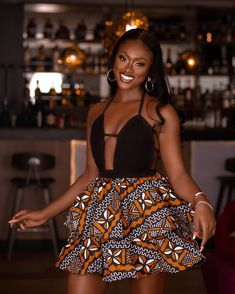 Linda Osifo- Keeping It Cool And Fun Short African Dresses, Latest African Fashion Dresses, African Print Fashion, African Prints, Dope Outfits, Classy Outfits, Chic Outfits, Fashion Outfits, Ankara Gown Styles