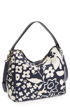 kate spade new york 'small haven' canvas hobo available at #Nordstrom