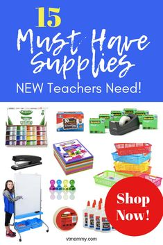 Here are 15 MUST HAVE supplies for New Teachers or teachers changing grade levels. Welcome back to school! What supplies do I need to order to set up a new classroom? New Classroom, Classroom Posters, Upper Elementary, Elementary Schools, Elementary Teacher, Math Stations, Math Centers, Third Grade Writing, Responsive Classroom