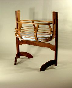 146: Victorian Bent Wood Baby\'s Cradle, American, Early on ...