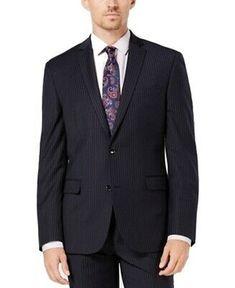 Bar III Slim Fit Light Gray Seersucker Two Button Cotton Suit