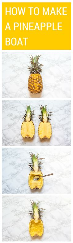 How To Make A Pineapple Boat  Impress your friends at your next dinner party with a pineapple boat. Only 4 easy steps!