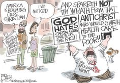 Bagley Cartoon: Christian America | The Salt Lake Tribune