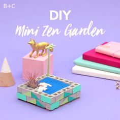 Relax at your desk with this DIY mini Zen garden.