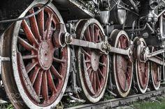 Old locomotive wheels by dario4446