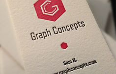 Graph Concepts - embossed business cards