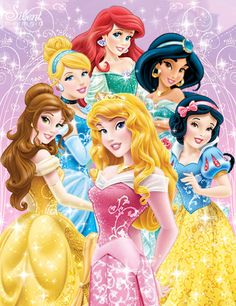 Disney Princesses -  New 2013 Design. I'm loving the sparkles! (and the new look)