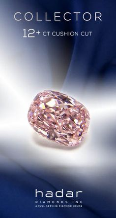 Collector Diamonds byHadarDiamonds.com . 12.12 carat GIA Certified Fancy Intense Purplish Pink HPHT diamond. SI1 clarity, even color distribution. Fit for the vault or an important jewelry piece.#pinkdiamonds