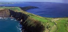 Old Head Golf Course in Kinsale - I think the 18th hole is at the very tip.