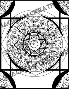 Mandala Sheet to color by ShacreamCreative on Etsy