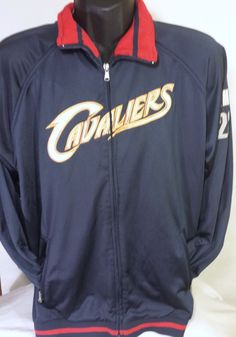 Retro Cleveland Cavaliers LeBron James Mens Size Large NBA Champion Track Jacket #Champion #BasicJacket #ClevelandCavaliers