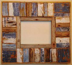 Coastal Frame  Reclaimed Wood by ShortysCoastalFrames on Etsy, $165.00