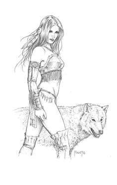 Nahimana, Wolf Sister by *MitchFoust on deviantART