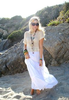 What To Wear: Summer Barbeque – Hippie Chic Outfit For A Bonfire Bbq - Click for More...