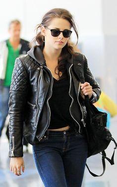 af42e946aae Cómo usan su leather jacket las famosas - Imagen 5 Kristen Stewart