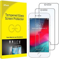 Amazon.com: JETech Screen Protector for iPhone 8 and iPhone 7, 4.7-Inch, Case Friendly, Tempered Glass Film, 2-Pack: Electronics Cell Phone Store, Best Cell Phone, New Electronic Gadgets, Glass Film, Phone Cover, Tempered Glass Screen Protector, Apple Iphone 6, Iphone Se, Cell Phone Accessories