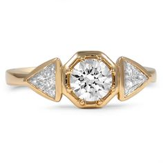 Modern+Three+Stone+Ring+with+Trillion+Accents+from+Brilliant+Earth
