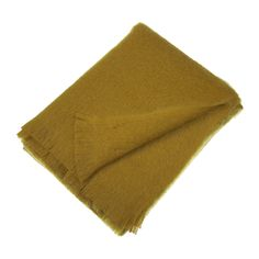 Discover the A by Amara La Napoule Mohair Throw - Gold at Amara