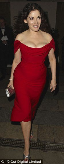Scarlet lady: TV cook Nigella displayed her slimmed down figure in a vibrant Vivienne Westwood dress 2008