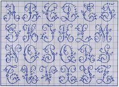 alphabet for filet crochet Alphabet Au Crochet, Crochet Letters Pattern, Embroidery Alphabet, Embroidery Patterns, Stitch Patterns, Thread Crochet, Filet Crochet, Crochet Stitches, Crochet Roses