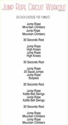 Jump rope workout!