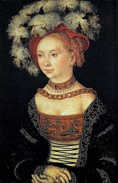 Lucas Cranach the Elder, Portrait of a Young Woman, 1530.