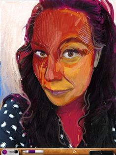 iPad selfie Art Set - great lesson using layers by Cathy Hunt