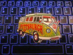 Pittsburgh Hippie VW Hippie Bus