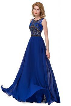 Buy Beautiful Jewel Chiffon A-line Evening Dress from Cocosbride, Plus Size Evening Dresses Evening Gowns On Sale, Plus Size Evening Gown, A Line Evening Dress, Cheap Evening Dresses, Cheap Prom Dresses, Formal Dresses, Sequin Formal Dress, Stylish Dresses, Party Dresses