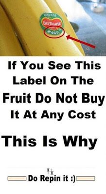 Healthy Tips If You See This Label On The Fruit Do Not Buy It At Any Cost ► - Shopping for fruit isn't safe anymore, if you see these labels on fruit avoid purchasing them at any cost. Health And Beauty, Health And Wellness, Health Care, Health Fitness, Herbal Remedies, Health Remedies, Natural Remedies, Valeur Nutritive, Healthy Foods