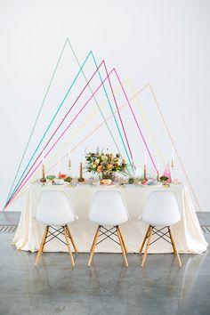 Easy wedding DIY | Washi Tape Backdrop