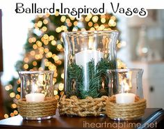 Blooming Homestead: DIY Hurricane Vases
