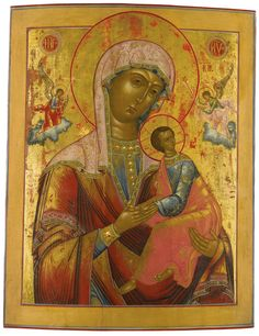 Mother of God of the Passion, school of Romanov Borisoglebsk, circa 1800 | Lot | Sotheby's