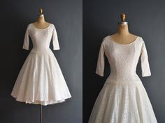 Edith / 50s dress / short wedding dress by BreanneFaouzi on Etsy https://www.etsy.com/listing/235489932/edith-50s-dress-short-wedding-dress