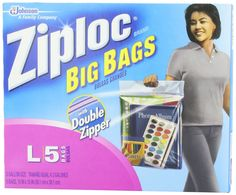 $6.69 Amazon.com: Ziploc Big Bag Double Zipper, Large, 5-Count: Health & Personal Care