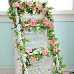 Artificial Roses Flower Craft Vine Garden Wedding Bouquet Party Home Decor gift #PSH