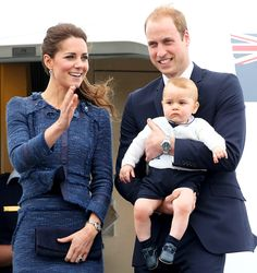 Prince George, Prince William, Kate Middleton Color-Coordinate Outfits En Route to Sydney: Picture