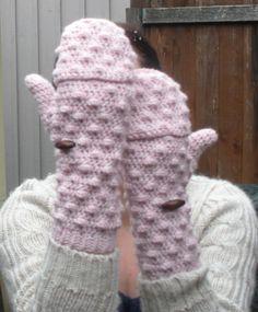Powder Pink convertible Mittens Fingerless Gloves