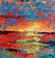 """"""" California Sunset"""" NCSFA Exhibition Shades of Summer by Shanna Stanton."""