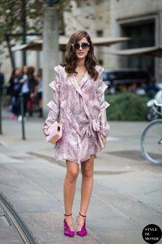 that dress is fab. #EleonoraCarisi in Milan.