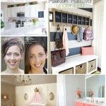 Top 13 Projects and Makeovers at Decorchick! | www.decorchick.com love the mudroom/chalkboard-coat rack