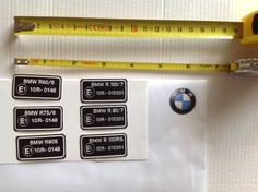 Homologation sticker for: R60/6 R75/6 R90/6 R90S R60/7 R75/7 R80/7 R100/7 R100RS R100CS  Dimensions: 41mm x 21mm.