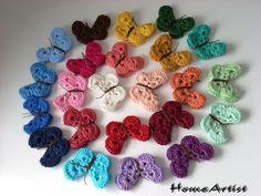 Schmetterlinge häkel - 2 aus 96 Freie Farbwahl von Home Artist auf DaWanda.com