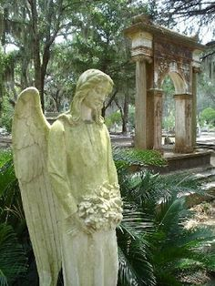 """Bonaventure Cemetery. Located just outside of the historic district of Savannah, Ga. It is the setting for the book and movie, """"Midnight in the Garden of Good and Evil"""".  A dark, southern gothic novel that is dripping with character and rich settings, not to mention a compelling plot. Bonaventure Cemetery is a MUST see while in Savannah."""