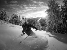 Salzburg, Austria is home to some picturesque mountains. Here, skier Martin Kaiser-Kaplaner makes his way down a slope at the Zauchensee ski...
