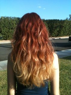 red blonde ombre hair | red to blonde ombre facebook.com/jenpluscolour | Hair Artistry and...