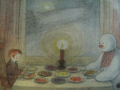 Raymond Briggs, The Snowman In Praise of Leftovers - iPol Christmas Pictures, Christmas Fun, Raymond Briggs, Snowman Quilt, Roger Duvoisin, Wolfhound, Children's Picture Books, Book Illustrations, Most Favorite