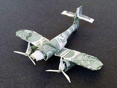 Messerschmitt Fighter Plane  Money Origami