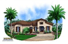 Madeira House Plan by Weber Design Group, Plan G1-2583, 2,583 square feet